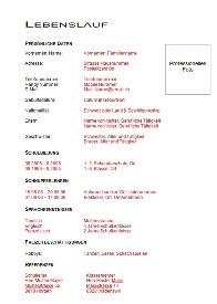 Vorlagen Für Die Lehrstellenbewerbung